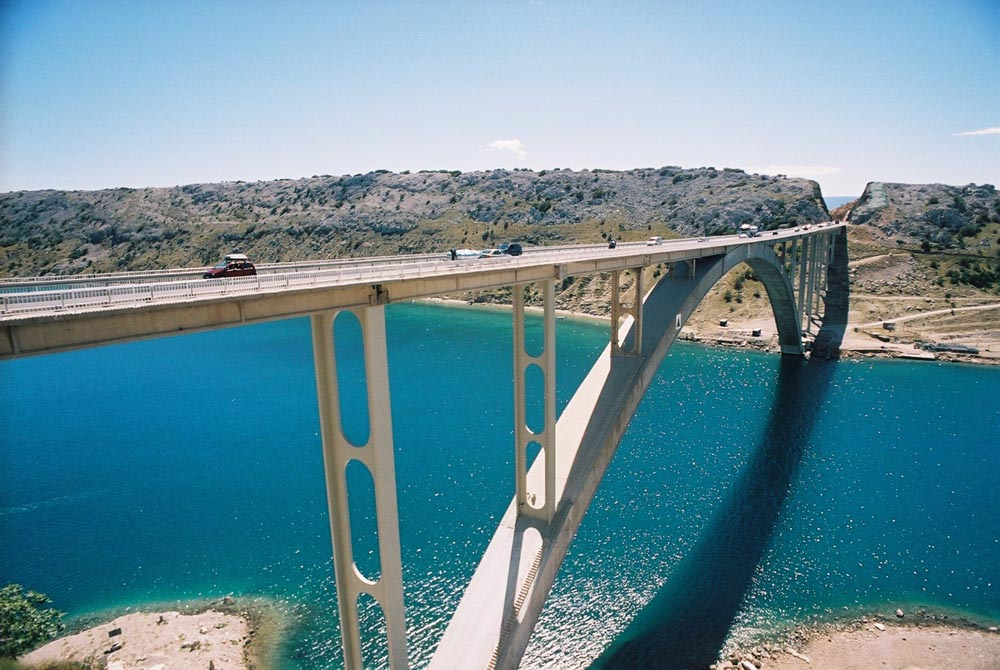 Podul către insula Krk